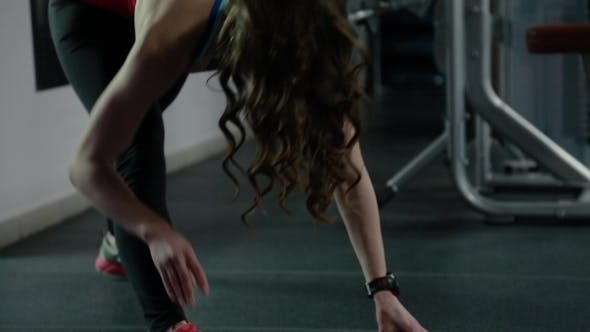 Thumbnail for Girl Warming Up In The Gym