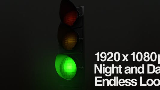 Thumbnail for Stop Light Changing Signal - Single Light