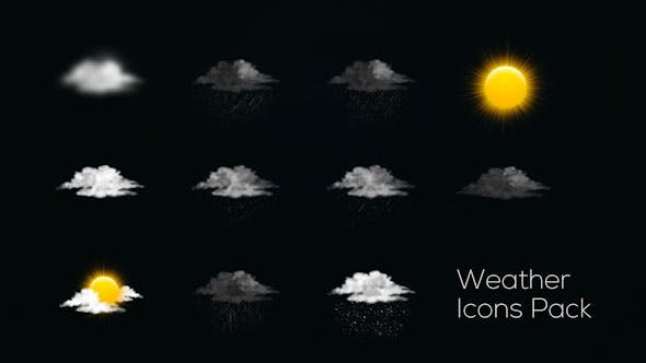 Download royalty free stock motion graphics envato elements thumbnail for weather icons maxwellsz