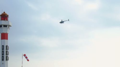 Hubschrauber abheben
