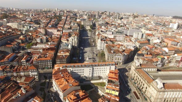Thumbnail for Aerial View of Porto Center, Portugal