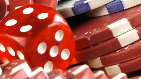 Thumbnail for Gambling Red Dice Poker Cards and Money Chips 3