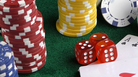 Thumbnail for Gambling Red Dice Poker Cards and Money Chips 18
