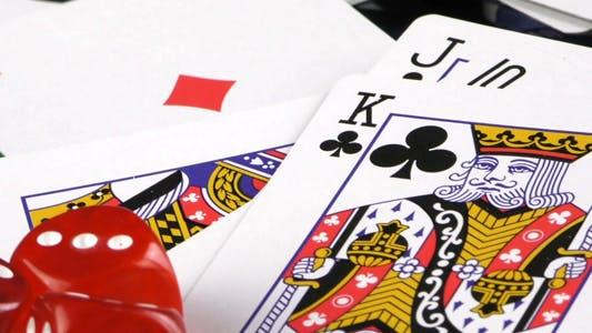 Thumbnail for Gambling Red Dice Poker Cards and Money Chips 5