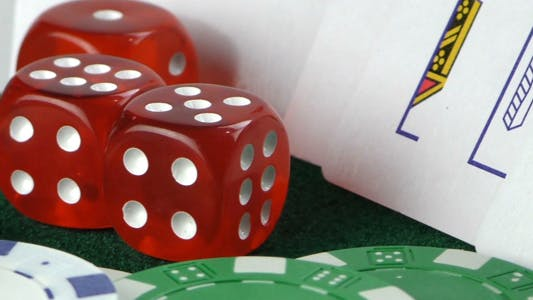 Thumbnail for Gambling Red Dice Poker Cards and Money Chips 10