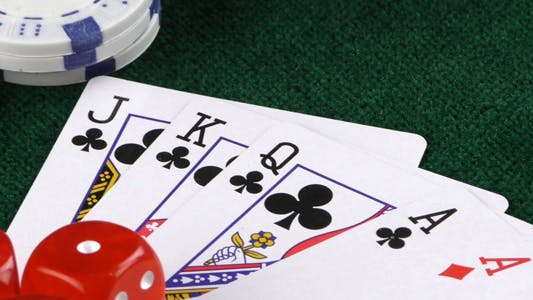 Thumbnail for Gambling Red Dice Poker Cards and Money Chips 12