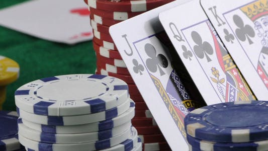 Thumbnail for Gambling Red Dice Poker Cards and Money Chips 17