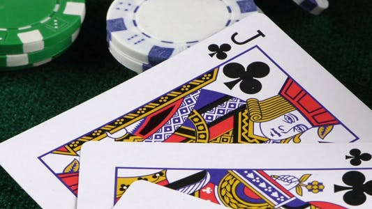 Thumbnail for Gambling Red Dice Poker Cards and Money Chips 20