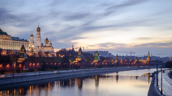 Thumbnail for Moscow Kremlin Dawn Sunrise In Moscow
