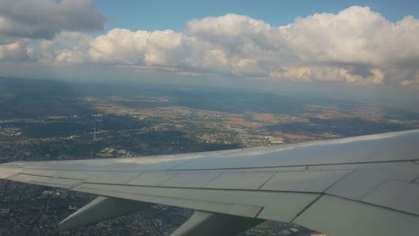 Thumbnail for Aerial View From The Airplane On Cumulus Clouds