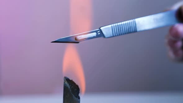 Cover Image for Scalpel And Forceps Sterilization With Fire