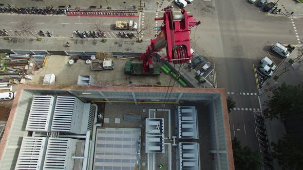 Thumbnail for Truck Crane Aerial Drone Footage