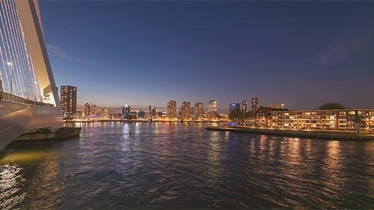 Thumbnail for Bridge and Modern City at Night