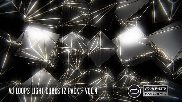 Thumbnail for VJ Loops Light Cubes Vol.4 - 12 Pack
