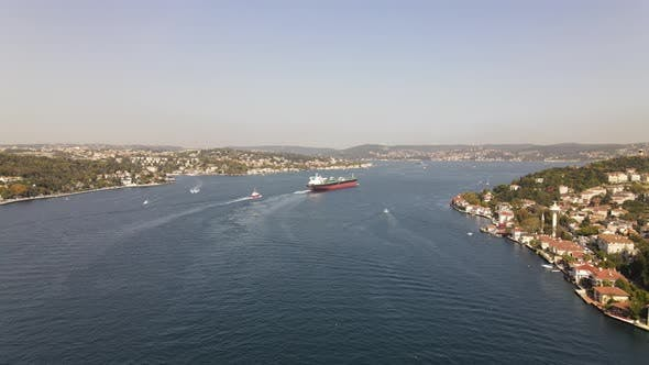 Thumbnail for City View Istanbul Bosphorus Drone