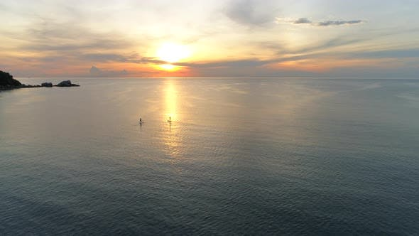 Thumbnail for Two Surfer At Sunrise
