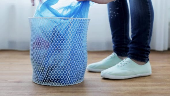 Thumbnail for Woman Tying Bag With Garbage In Waste Bin 31