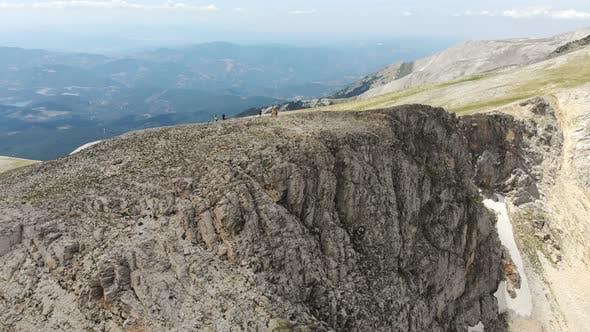 Climbers on Half Cut Mountain Summit
