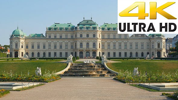 Thumbnail for View of Belvedere Palace, Vienna, Austria