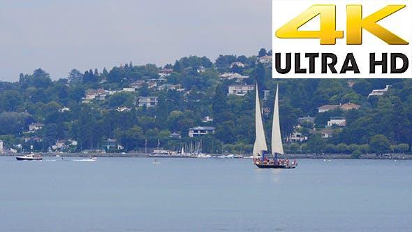 Thumbnail for Sailing at Geneva Lake in Switzerland