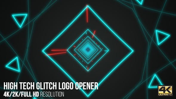 High Tech Glitch Logo Opener