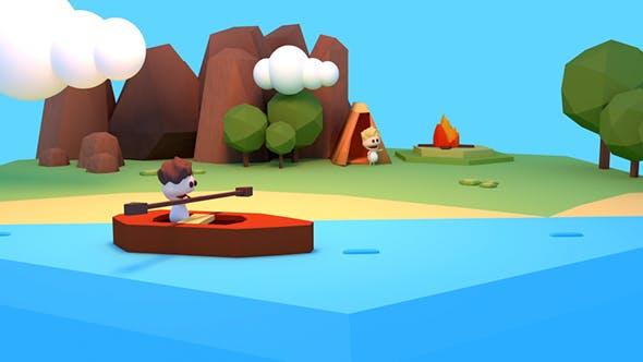 Thumbnail for Cartoon Summer Camp And Kayaking