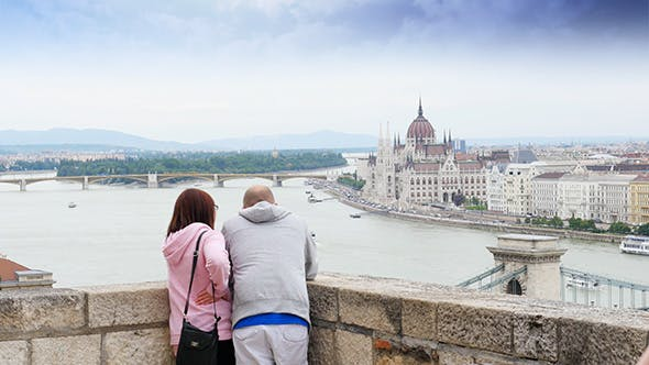 Thumbnail for Couple Enjoy With Budapest River View, Hungary