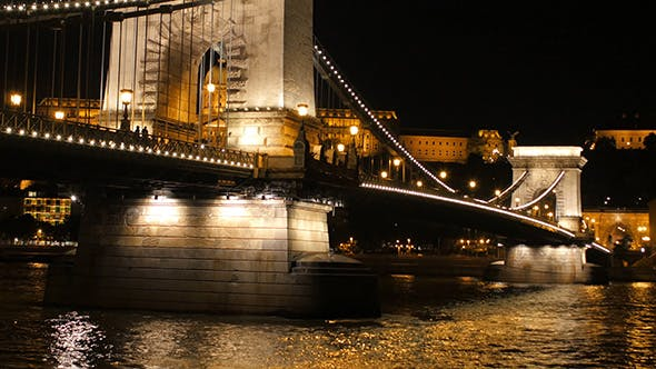 Thumbnail for Chain Bridge view at night in Budapest