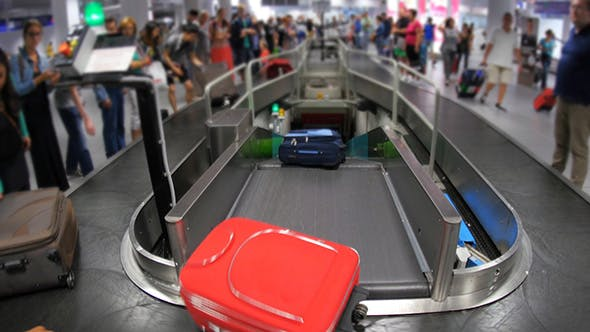 Thumbnail for Baggage Claim Area of Terminal, inside Airport