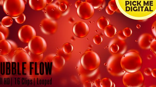 Thumbnail for 16 Bubble Flow Footage Pack