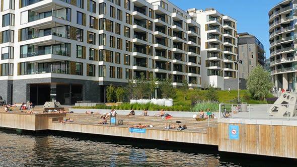 Thumbnail for People Swimming Scandinavian Waters in Oslo, Norway