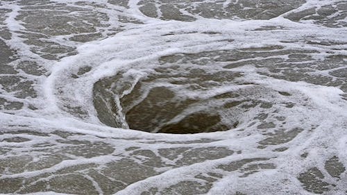 Natural Whirlpool in Water