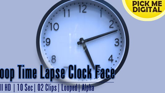 Thumbnail for Loop Time Lapse Clock Face