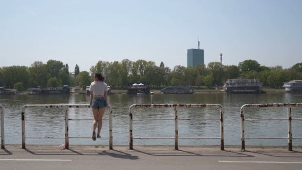 Thumbnail for Girl Standing On a Pier In Belgrade