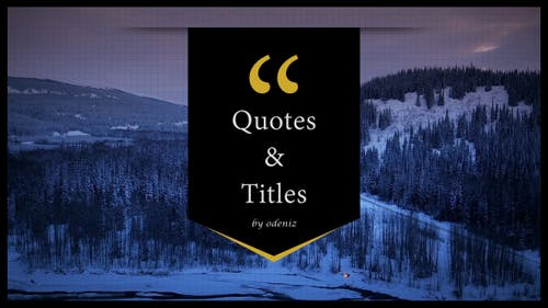 Quotes and Titles