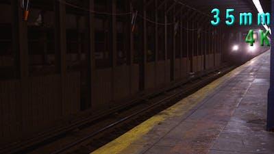 New York City Subway Passing at Subway Station 04