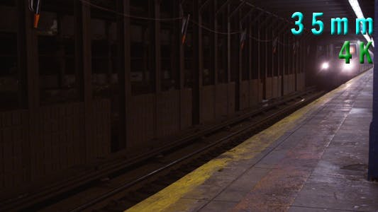 Thumbnail for New York City Subway Passing at Subway Station 04
