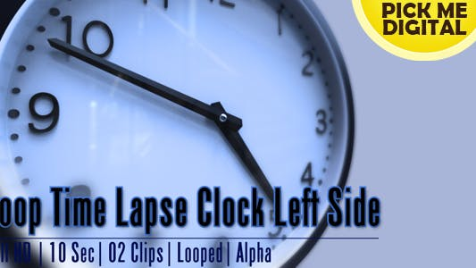 Cover Image for Loop Time Lapse Clock Left Side