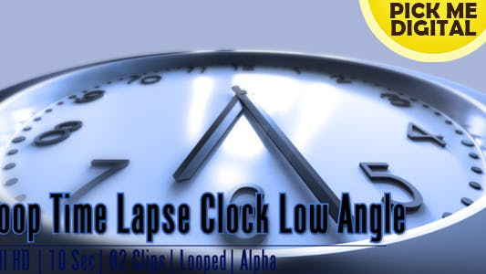 Thumbnail for Loop Time Lapse Clock Low Angle