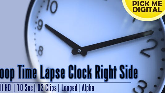 Thumbnail for Loop Time Lapse Clock Right Side