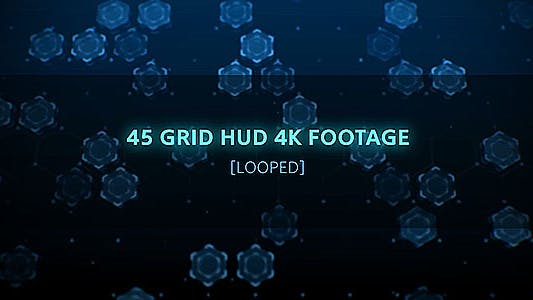 Thumbnail for 45 Grid Hud Footages/ Interface HUD BG/ High Technology Background/ Data Center/ Business Promo Id