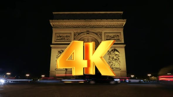 Thumbnail for Traffic Near Triumphal Arch At Night
