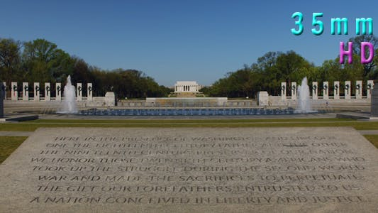 Thumbnail for National World War II Memorial, Lincoln Memorial in Background 24