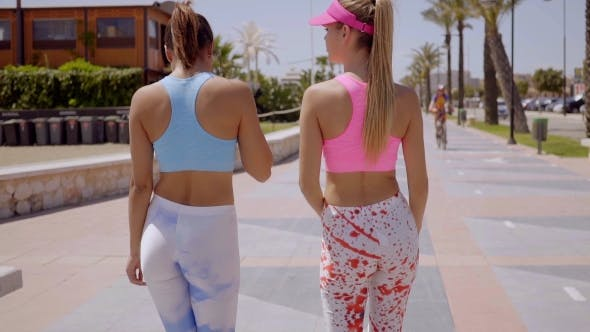 Thumbnail for Rear View Of Two Sexy Shapely Young Women
