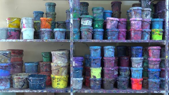 Thumbnail for Industrial Multicolor Paint Buckets