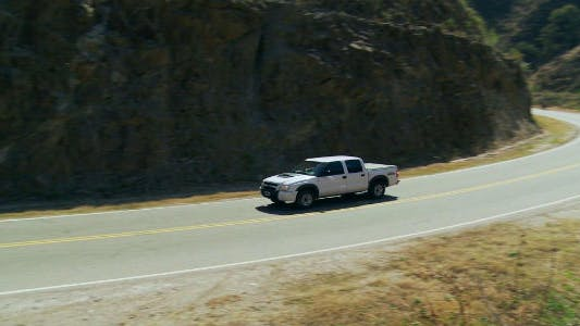 Thumbnail for Panoramic of a Car On a Mountain Road.