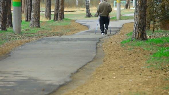 Thumbnail for Elderly Man Exercising In Park