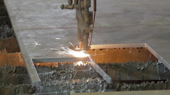 Thumbnail for Plasma Cutting Machine On a Factory