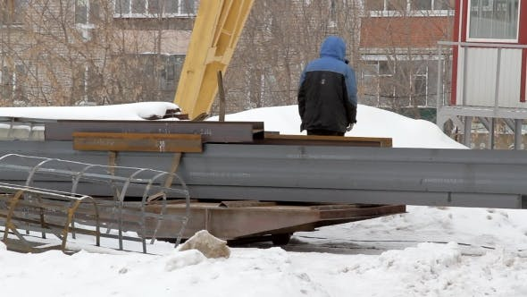 Transportation Of Metal Beams