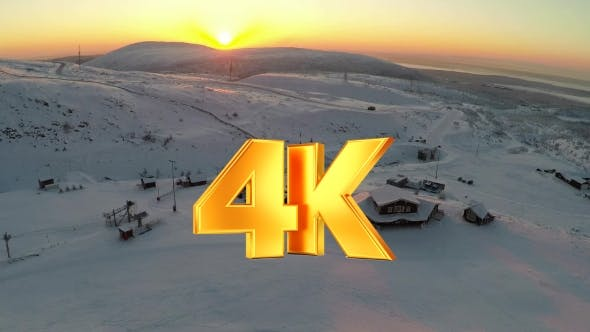 Thumbnail for Flying Over The Ski Centre Area At Sunset